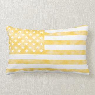Rustic Yellow American Flag Cushion