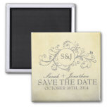 Rustic Yellow and Grey Bohemian Save The Date Magnets