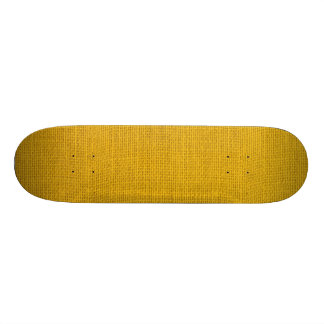 Rustic Yellow Burlap Texture Custom Skateboard