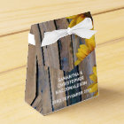 Rustic yellow sunflower country floral wedding favour box