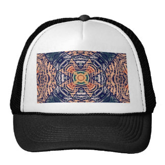 Rustic Zebra Abstract Mesh Hat