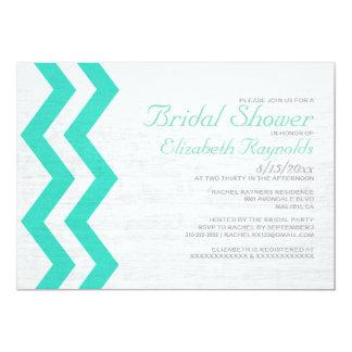 Rustic Zigzag Bridal Shower Invitations