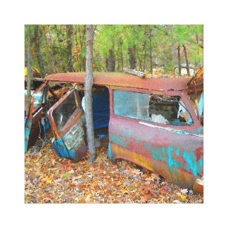 Rusting 57 Chevy Nomad Canvas Print