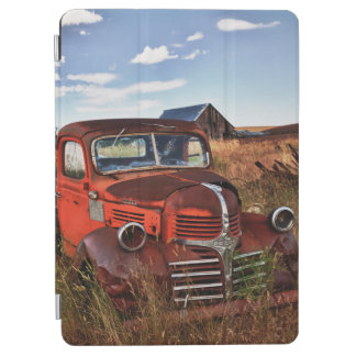 Rusting orange Dodge truck with abandoned farm iPad Air Cover