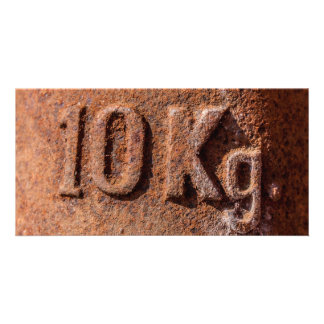 Rusty 10 kg photo cards
