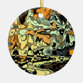 Rusty abstract round ceramic decoration