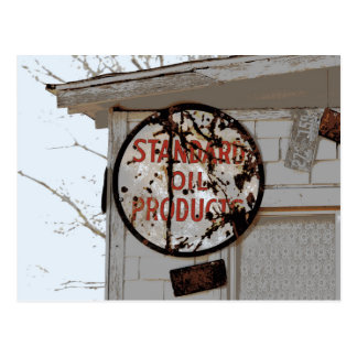 Rusty Advertising Sign on Route 66 Postcard