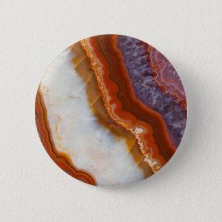 Rusty Amethyst Agate 6 Cm Round Badge