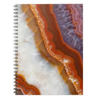 Rusty Amethyst Agate Notebooks