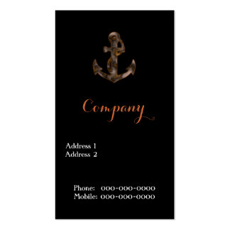 Rusty Anchor Business Card Template