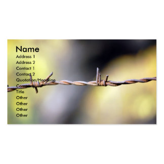 Rusty Barbed Wire Business Cards