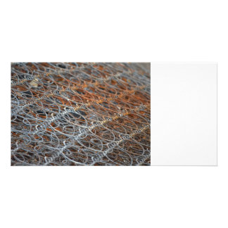 rusty bed springs steampunk industrial picture card