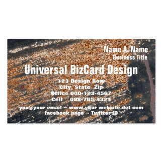Rusty Black Grunge Template Pack Of Standard Business Cards