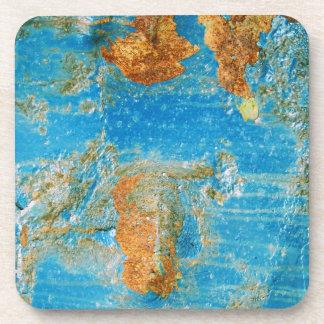 Rusty Blue Metal Steel Grunge Coaster