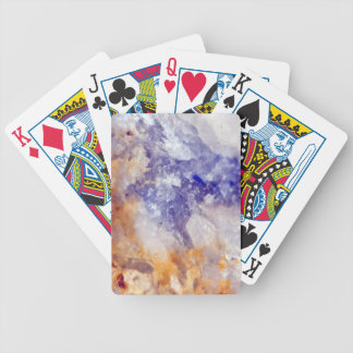 Rusty Blue Quartz Crystal Bicycle Playing Cards