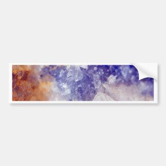Rusty Blue Quartz Crystal Bumper Sticker