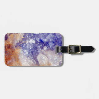 Rusty Blue Quartz Crystal Luggage Tag
