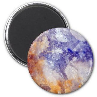 Rusty Blue Quartz Crystal Magnet