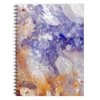 Rusty Blue Quartz Crystal Notebook
