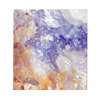 Rusty Blue Quartz Crystal Notepad