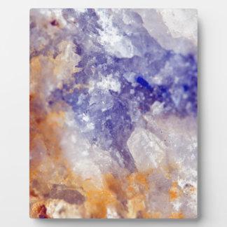 Rusty Blue Quartz Crystal Plaque