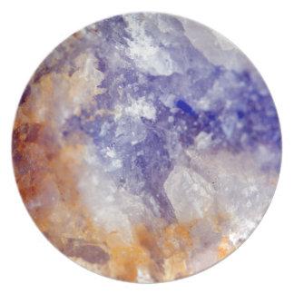 Rusty Blue Quartz Crystal Plate