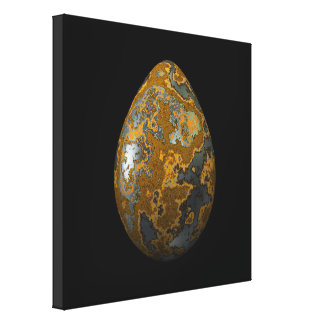 Rusty Blue Steel Egg Canvas Print
