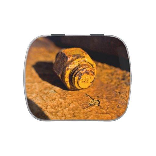 Rusty Bolt & Nut Candy Tin