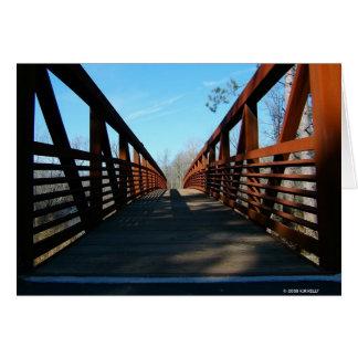 RUSTY BRIDGE. GREETING CARD