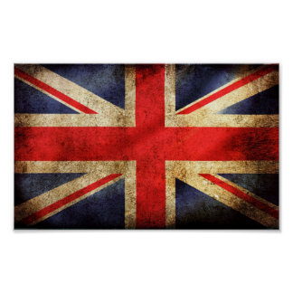 Rusty British Flag Poster