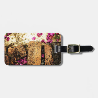rusty brown art burn smoke Abstract Antique Junk S Luggage Tag