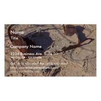 Rusty Cans Desert Sand Business Card Template