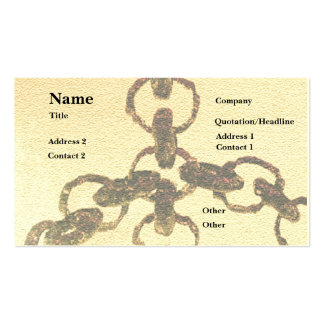 Rusty Chains Pack Of Standard Business Cards