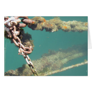 Rusty Chains & Water Greeting Card