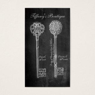 Rusty Chalkboard Victorian steampunk skeleton keys Business Card
