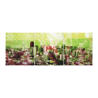 Rusty city canvas print