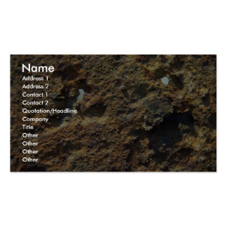 Rusty Color Rock Business Card Template
