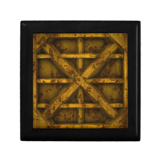 Rusty Container - Yellow - Small Square Gift Box
