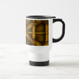 Rusty Container - Yellow - Stainless Steel Travel Mug