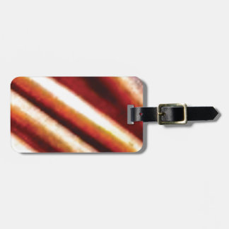 rusty copper tubes luggage tag