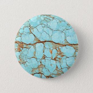 Rusty Cracked Turquoise 6 Cm Round Badge