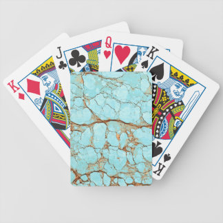 Rusty Cracked Turquoise Bicycle Playing Cards