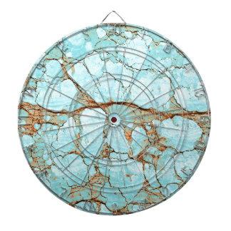 Rusty Cracked Turquoise Dartboard