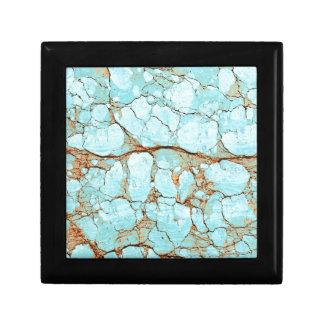 Rusty Cracked Turquoise Gift Box