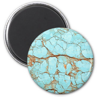 Rusty Cracked Turquoise Magnet