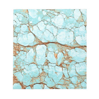 Rusty Cracked Turquoise Notepad