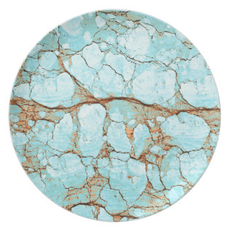 Rusty Cracked Turquoise Plate