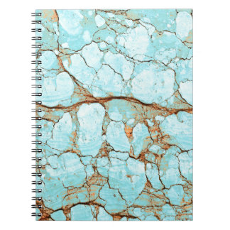 Rusty Cracked Turquoise Spiral Notebook