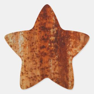 Rusty distressed artistic grunge background star sticker