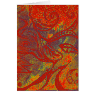 Rusty Doodle Abstract Blank Notecard